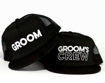 Groom Trucker Hat & Grooms Crew Trucker Hats | Bachelor Party Hat | Groomsmen Hats | Bridal Party Trucker Hat | Groom Trucker Hat | Wedding