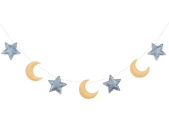 Star And Moon Garland, Star And Moon Baby Bunting