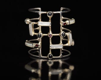 Art Deco cuff bracelet