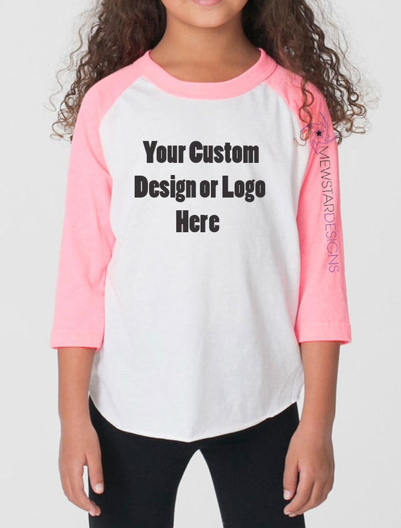 Custom youth unisex tees raglan shirt personalized tees for Custom raglan baseball shirt