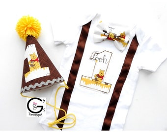 Winnie The Pooh St Birthday Cake Smash Outfit