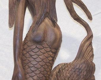 Indonesian Sea Goddess Putri Duyung Mermaid Sculpture