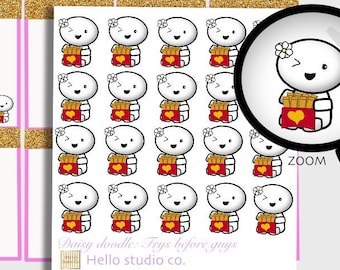 Emoti Fries before guys planner stickers Doodle planner stickers Emoti Planner stickers