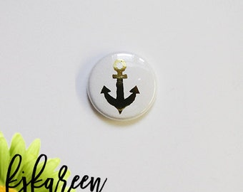 "Badge 1 ""- anchor metal gold"