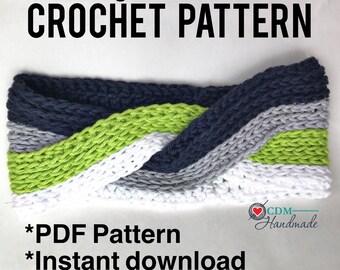 Interlocking Knit Look Headband Crochet Pattern