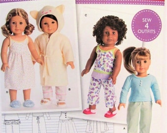 American Girl Doll Clothing Pattern Simplicity 8281 New Uncut Free USA Shipping