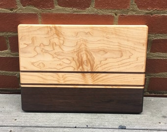 Handmade Maple Cutting Board with Walnut