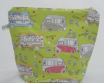 Zipped waterproof pouch - Ice-cream vans!