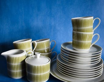 Midcentury Tea Set, Seltmann Weiden Ceramic Coffee Set, Bavaria Germany Retro Ceramic Coffee Tea Cups