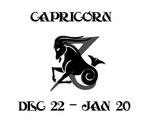 Capricorn Zodiac SVG, Capricorn Sign and Symbol