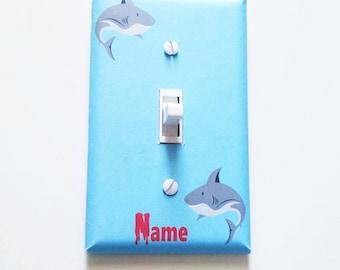 Boys room decor - Shark decor - Light switch cover - Shark room - Shark wall decor - Boys bedroom - Kids bedroom - Boy nursery - Shark week