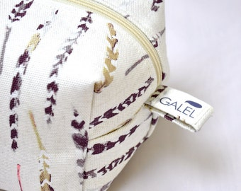 Toiletry bag, cosmetic bag, box pouch, makeup bag, cosmetic pouch, travel case, MADE TO ORDER