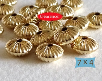 14K Gold Filled Corrugated Spacers--1 Pc   CM301-1