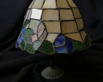 Vintage Stained Glass Table Lamp Shade