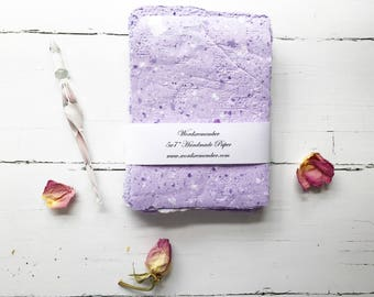 Handmade Paper, Upcycled Paper, Homemade Paper, Recycled Paper, Letter Writing Paper, Writing Paper, Paper Handmade, Gifts for Writers