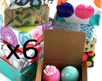 6 Boxes - 4 Bath Bombs in each Box! Perfect Christmas Gift For Family, Friends, Co Worker, Parties!! Handmade in USA with Fresh Ingredients