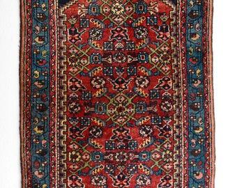 FREE SHIPPING   Antique Persian Hamadan Rug.