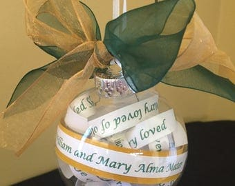 William and Mary Alma Mater Ornament; Tribe; Graduation Gift