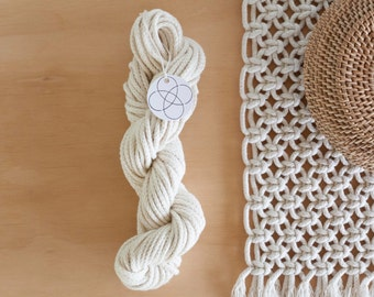 Natural Cotton Macrame Cord // 5mm Braided // Craft Rope // Raw // Unbleached // New Zealand Made
