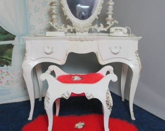 Vintage Barbie Susy Goose Vanity Dressing Table