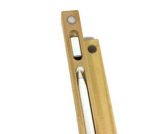 Apple Pencil Case for iPad Pro Models 9.7 & 12.9 Natural pine,  Apple iPad Pro Apple Pencil case, iPad Pro pencil case