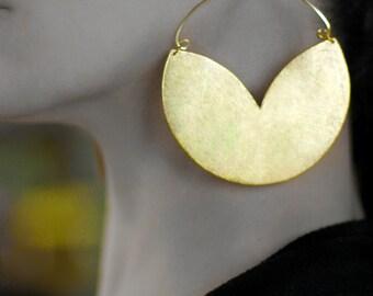 Hoop earrings Boho earrings Non pierced earrings Clip on earrings Boho jewelry Hoop clip on dangles Gold African jewelry Clip earrings Screw