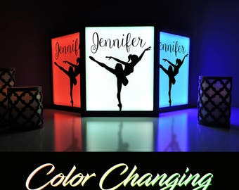 Ballerina Art, Ballerina Nightlight, Ballerina Sign, Ballet Art, Ballerina Wall Art, Light Up Sign, Ballerina Room, Personalized Ballerina