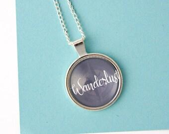 Wanderlust Necklace, Wanderlust Jewellery, Wanderlust Jewelry, gifts for travelers,  festival jewellery, traveler necklace, compass necklace