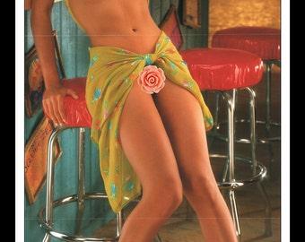 "Mature Playboy July 1997 : Playmate Centerfold Daphnée Lynn Duplaix Gatefold 3 Page Spread Photo Wall Art Decor 11"" x 23"""