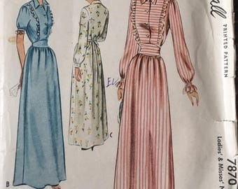 Vintage sewing pattern, McCall, 7870, size 12 (bust 30)
