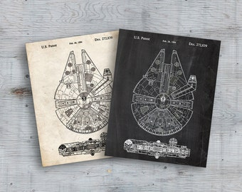 75% OFF SALE - Star Wars, Millennium Falcon Star Wars Poster, Millennium Falcon Star Wars Patent, Millennium Falcon Star Wars Print, Falcon