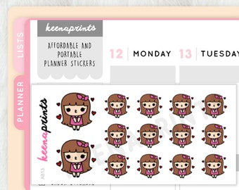 A813 | POUT stickers Keenachi Perfect for Erin Condren Life Planner, Filofax, Plum Paper & other ...