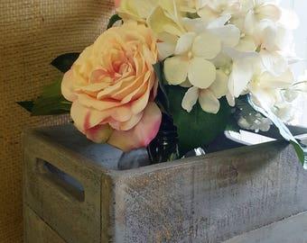 Rustic wedding card box, centerpiece, Wooden crate centerpiece, Shabby chic wedding centerpiece, Outdoor wedding decor