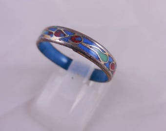 Vintage 1970's Enamel Band Ring