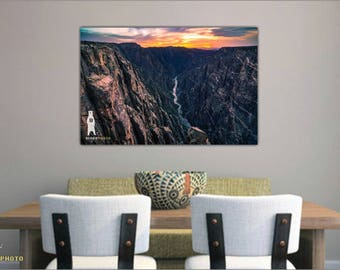 Landscape Photography, Black Canyon of the Gunnison, National Park, Colorado Art, Colorado Gifts, Colorado Decor, Colorado Photography