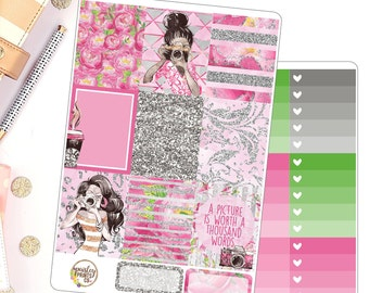 Capture Weekly Kit Planner Stickers for use in Erin Condren Vertical