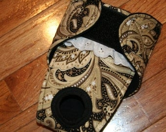 Female Dog Diaper/Panties, Dog Britches, Nappies, Heat cycle, Incontinence - Cream and Black Paisley - by angelpuppi