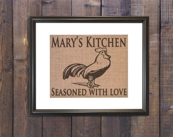 Rooster Kitchen Decor Rustic Kitchen Decor Country Kitchen Decor Mother Birthday Gift