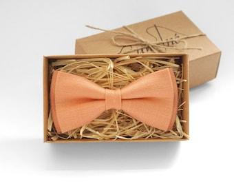 Peach bow tie, Peach Wedding bow tie, Bow Ties for Men, Peach Toddlers bow tie, Boys bow tie, Peach bow tie, peach tie, mens neckties
