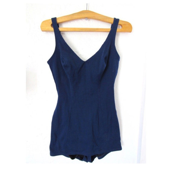 60s Navy One Piece