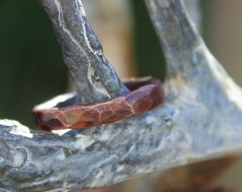 "Simply Copper 3 - a simple 1/8"" wide copper ring."