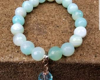 Agate Beaded Bracelet