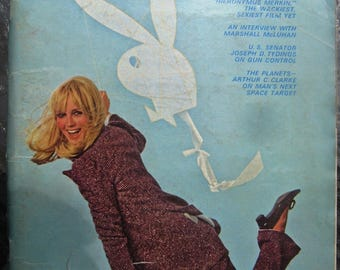 Playboy March 1969 torn cover, missing centerfold & middle page loose! FREE SHIPPING