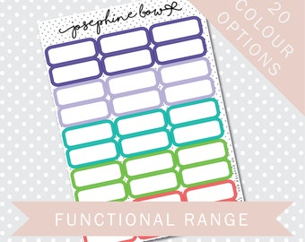 HP QUARTER BOXES - Functional Stickers - Planner Stickers Matt