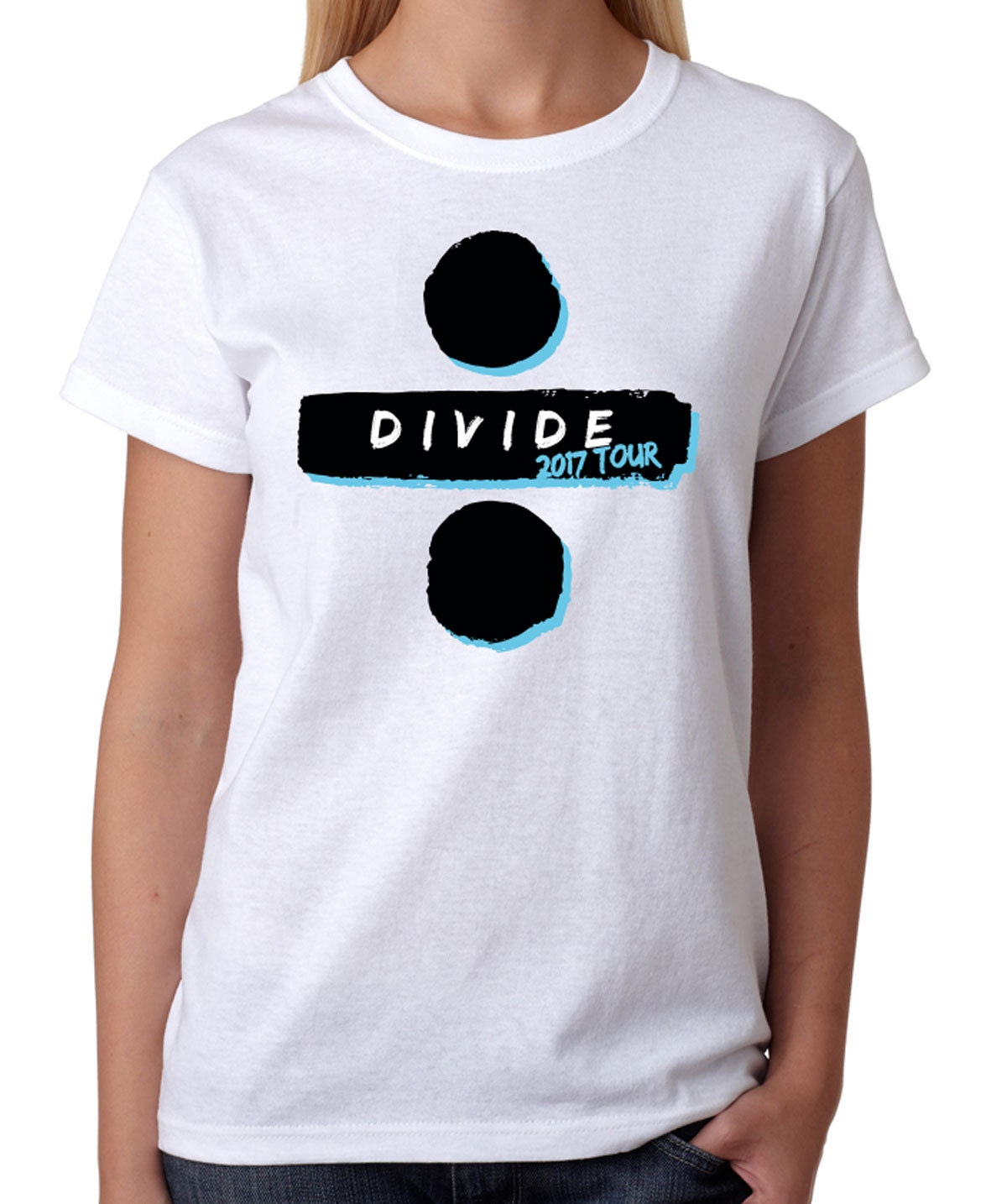 divide tour t shirt 2017 ed sheeran t shirt womens white tee. Black Bedroom Furniture Sets. Home Design Ideas