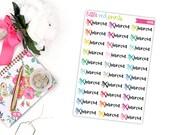 Haircut Planner Stickers for the Erin Condren Life Planner, Script Sticker, Functional Planner Sticker - [P0415]