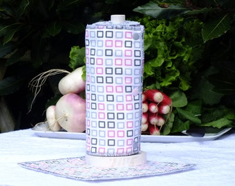 "Paper towels washable ""Pink radish"""