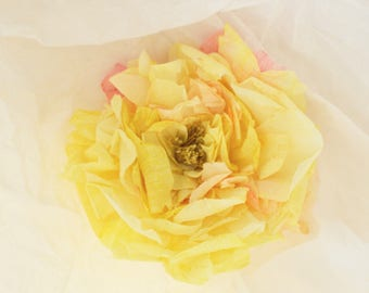 Wedding Flowers, Wedding Roses, Paper Flowers, Yellow Roses, Unique Wedding Flowers, Roses, Wedding Decoration, Floral Wall Decor