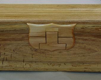 A Men Keepsake Box, Rustic manly look box, Male keepsake box, Gift, Birthday gift, Made of Butternut wood, Unique,