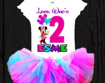 Minnie Mouse Birthday Tutu - Minnie Birthday Tutu